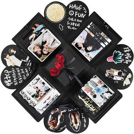 YITHINC Caja de Regalo DIY Álbum de Fotos Hecho a Mano,Creative Explosion Box como Regalo de Cumpleaños y Caja de Sorpresa sobre el Amor Abierto: Amazon.es: Hogar