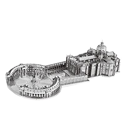 MoTu 3D Metal Puzzle St Peter's Basilica Assemble Model Kits B32202 DIY 3D Laser Cut Jigsaw Toy: Toys & Games