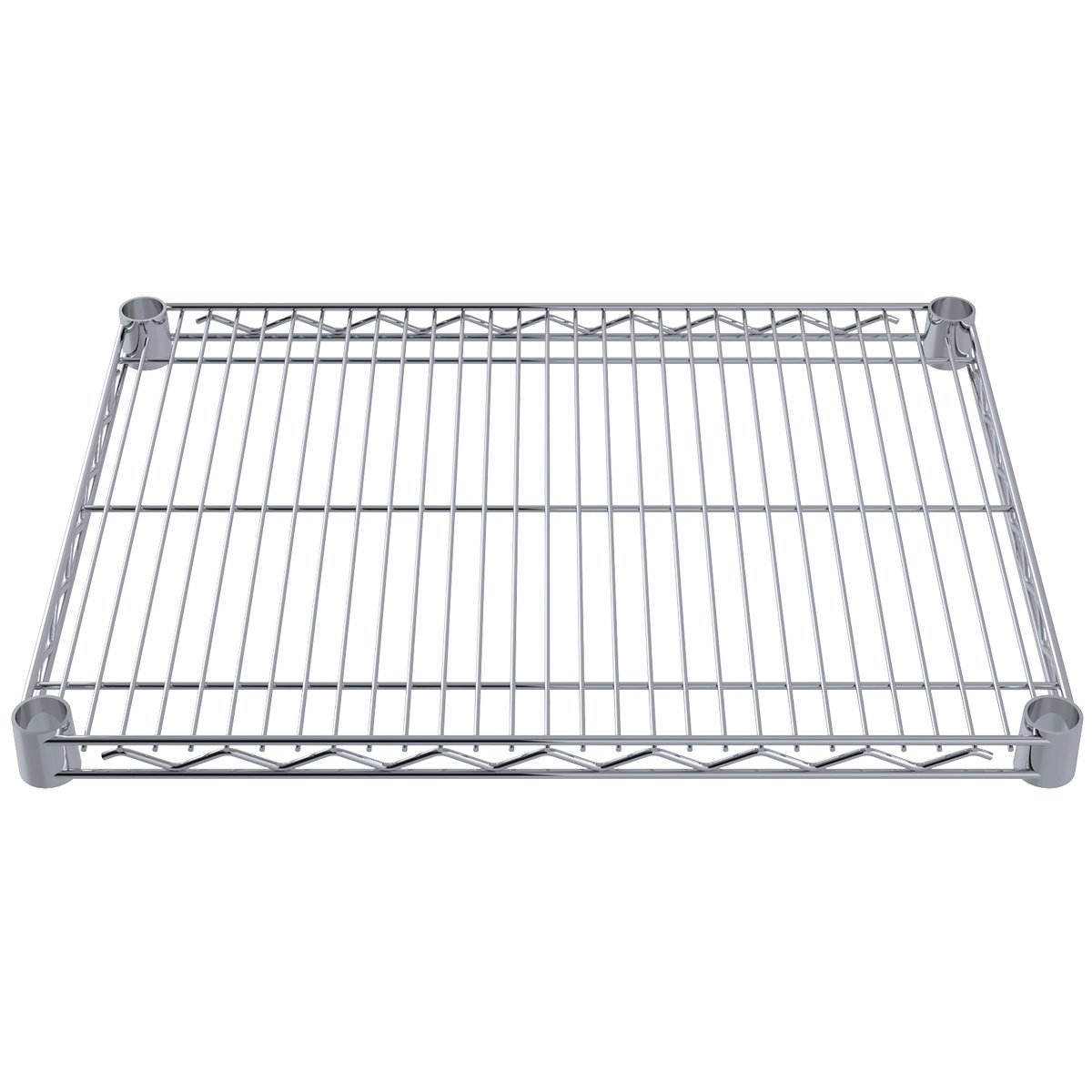 Akro-Mils AWS1824SHELF 18-Inch X 24-Inch NSF Approved Industrial Grade Chrome Wire Shelf, 4-Pack