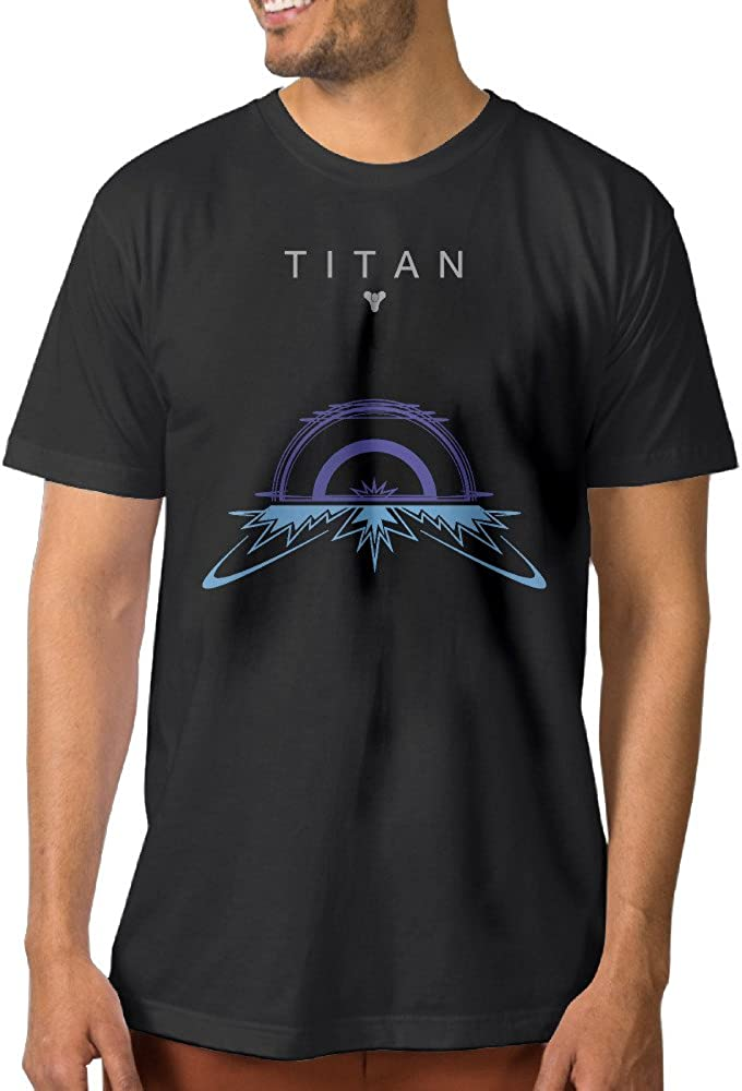 Show Time Men's TITAN Plan Warlock Short Sleeve Funny T Shirt Black