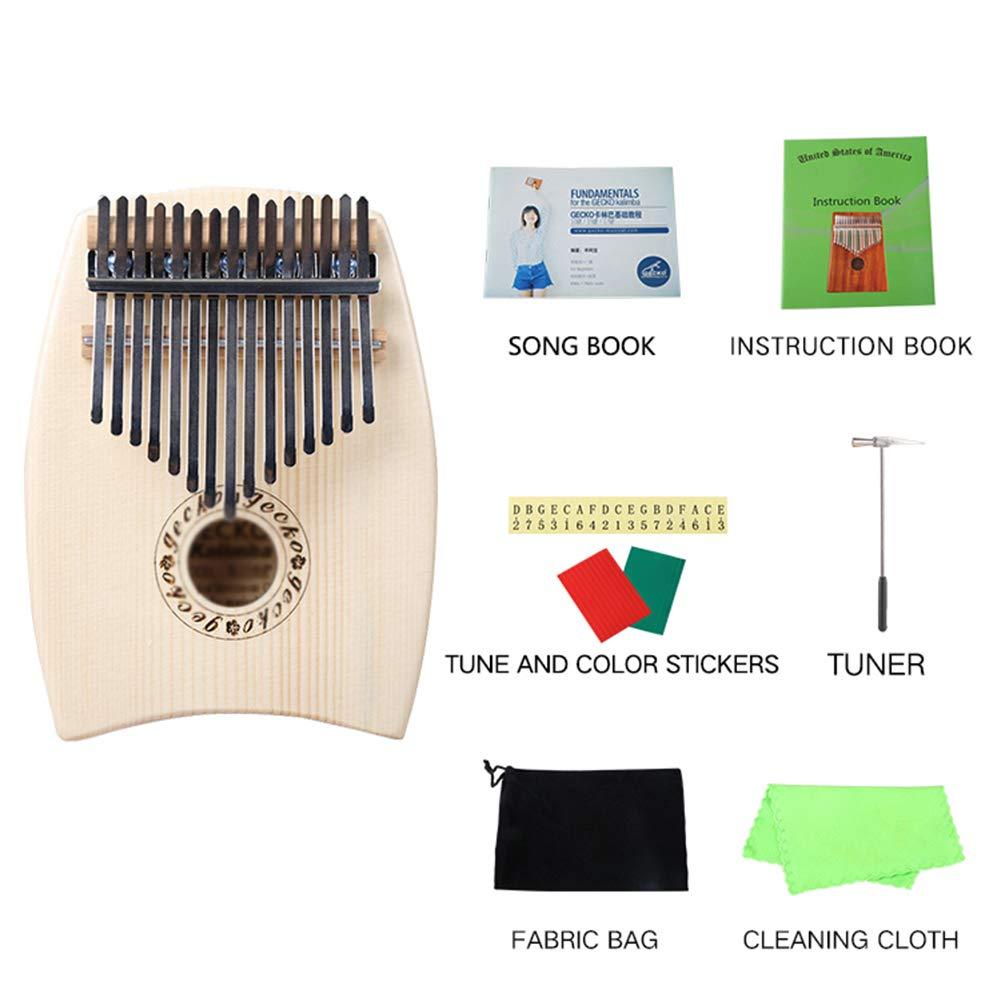 MG.QING 15-Key Kalimba Spruce G-Tone Acoustic Thumb Piano Finger Instrument Gift