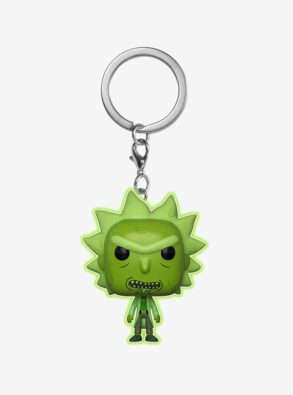 POCKET POP Funko Rick Morty Toxic Rick Glow in The Dark Exclusive Keychain Keyring