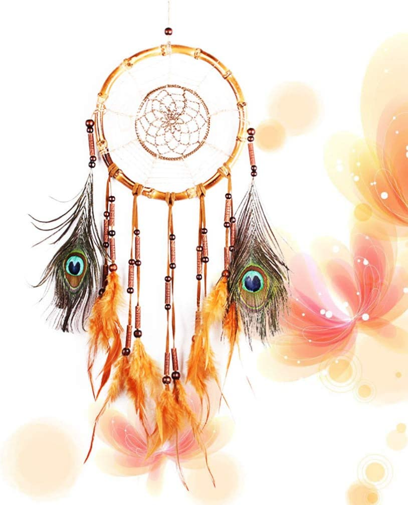 LIOOBO 1pc Traditional Dream Catcher with Feathers Dreamcatcher Craft Gift for Home Wall Bedroom Decoration