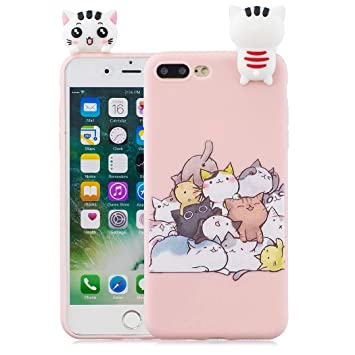 CoqueCase Funda iPhone 8 Plus Silicona 3D Suave Flexible ...