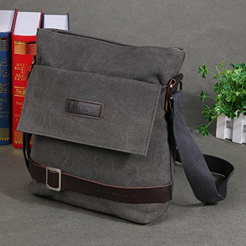 Handbag Bag Travel Grey Fashion Men Widewing Shoulder Solid Canvas Messenger Bags wZ8BS