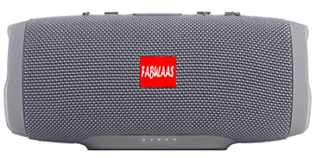 Fabulaas Charge High Bass Portable Bluetooth Speaker for All Mobiles/Tablets/Laptops  Grey  Mobile Speakers