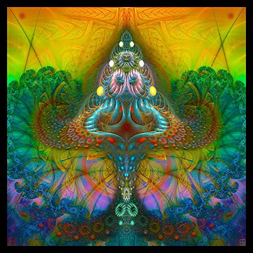 Trippy Tapestry Psychedelic Wall Hanging Shamanic Art Shaman Visionary Psy DMT Shroom
