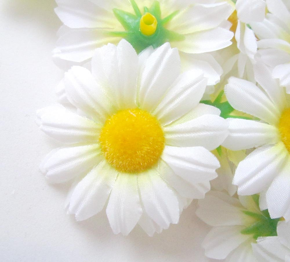 Amazon 24 Silk White Gerbera Daisy Flower Heads Gerber