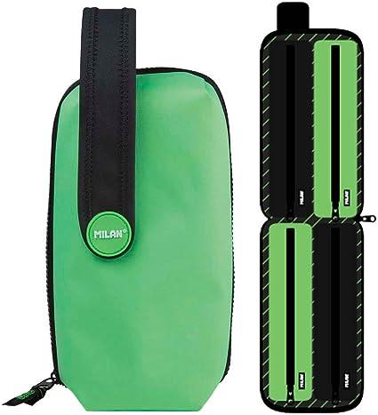 Estuche Milan Fluo Green Handly Multipencilcase 31 Piezas: Amazon.es: Oficina y papelería
