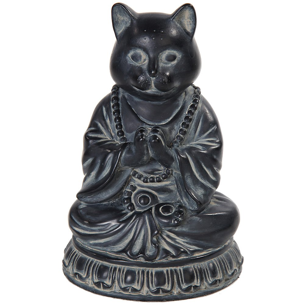 Cat Buddha Meditating Statue Eastern Enlightenment Masterpiece by Pacific Trading