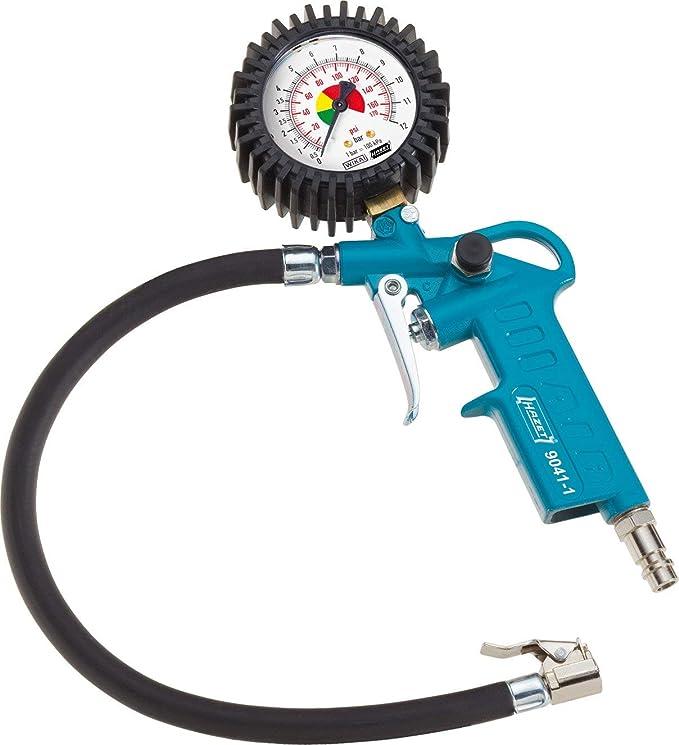 Hazet Reifenfüll Messgerät Manometer Messbereich 0 12 Bar Schlauchlänge 400 Mm Manometer Durchmesser 63 Mm 9041 1 Auto