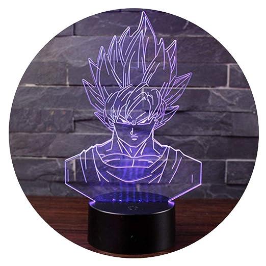 3D Lámpara de Escritorio Mesa 7 cambiar el color botón táctil de ...