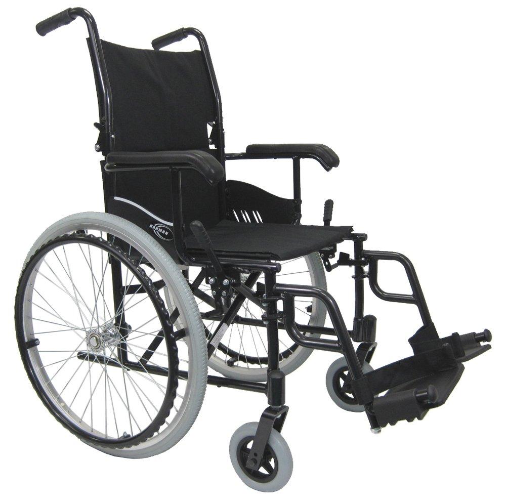 Karman 24 pounds LT-980 Ultra Lightweight Wheelchair Black by Karman Healthcare