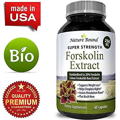Potent Natural Labs Pure Forskolin Weight Loss Supplement and Appetite Suppressant 60 Capsules