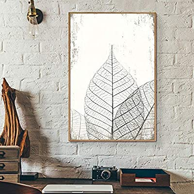 Framed Canvas Wall Art for Living Room, Bedroom Translucent Leaves II Canvas Prints for Home Decoration Ready to Hang - 16x24 inches