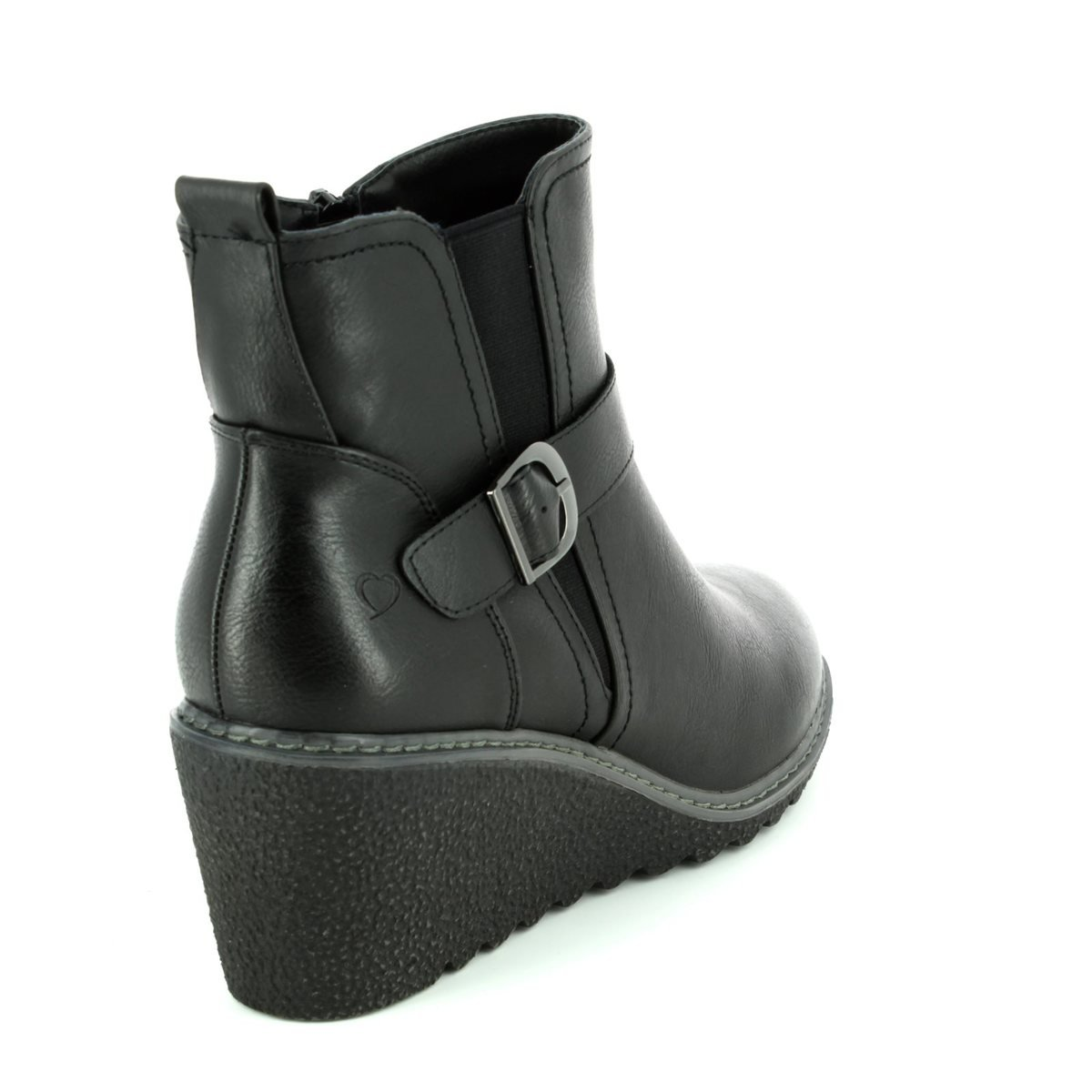 d281e4b97f52 Heavenly Feet Fleur Womens Ladies Ankle Boots Black - Black - UK Size 3   Amazon.co.uk  Shoes   Bags