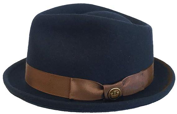 695c7480e603d0 Goorin Bros. Made in USA Mr Mackateer Wool Felt Fedora (Navy, Large)