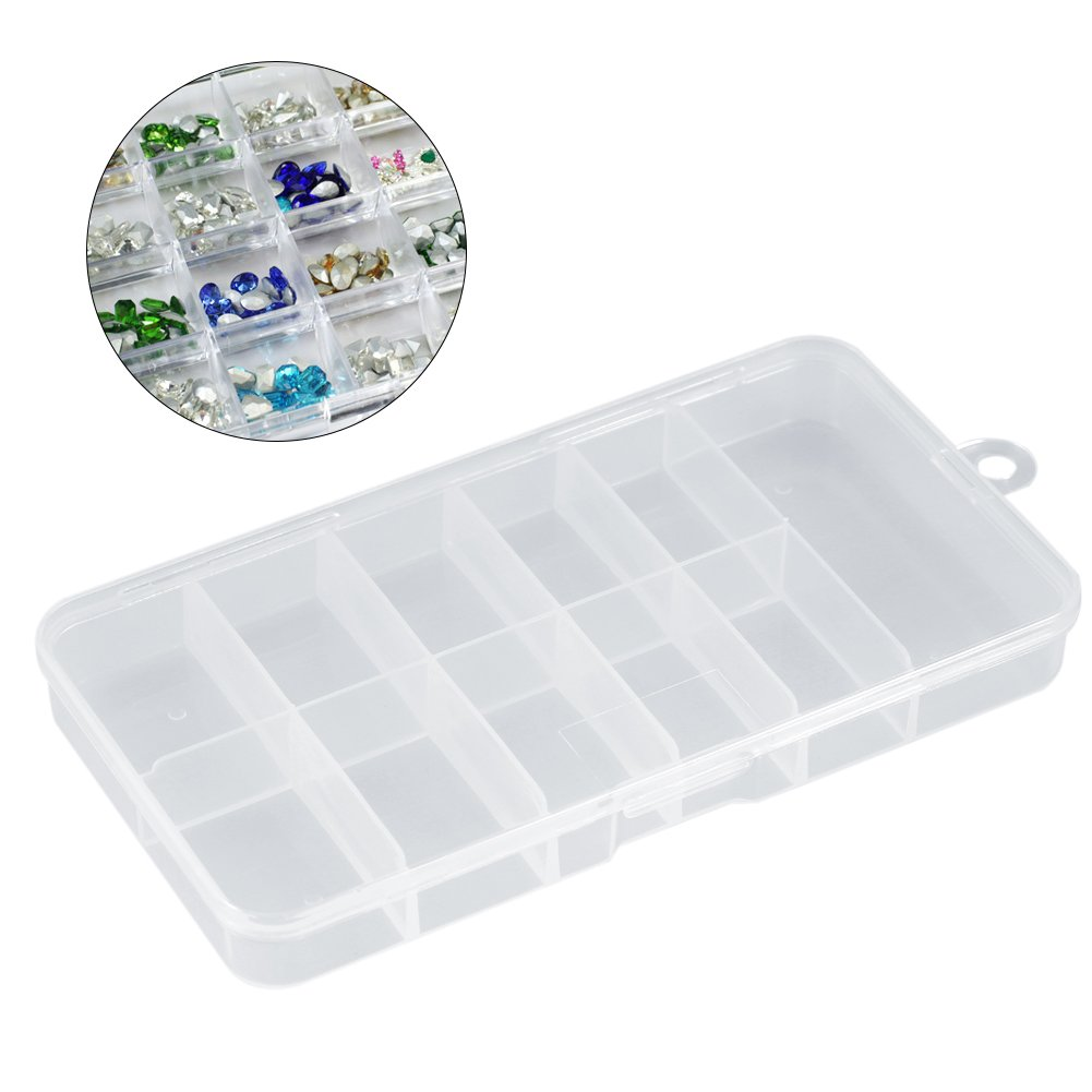 Nail Tip Storage Box, Asixx New Useful Durable Plastic Nail Art Empty Storage Case Holder Container Box Tool Non-toxic Special for Nail Art by Asixx (Image #1)