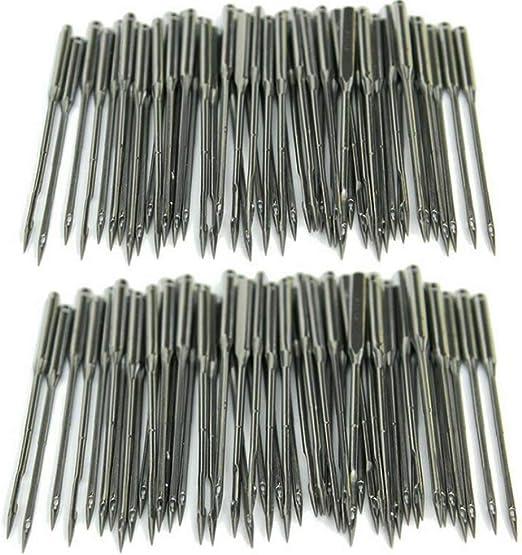 Proumhang 50 piezas de agujas para máquinas de coser domésticas 130/705H, HAx1, 15x1, tamaño # 11/12/14/16/18: Amazon.es: Hogar
