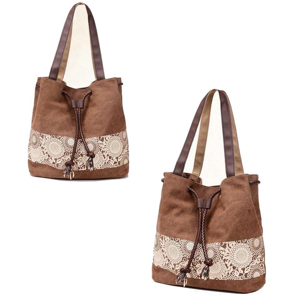 Chikencall Women Bag Retro Hobo Canvas Daily Purse Shoulder Bag Tote Ladies Shopper Handbag