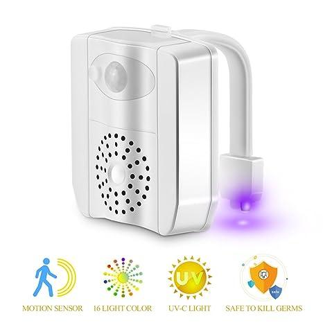 Luz de la noche del inodoro, Konesky Sensor de movimiento activado Luz del inodoro Automático