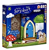 The Irish Fairy Door Company - Blue Arched Door - Includes Magic Key in a Bottle, 3 Stepping Stones, Fairy Lease Agreement, Notepad, and Fairy Welcome Guide