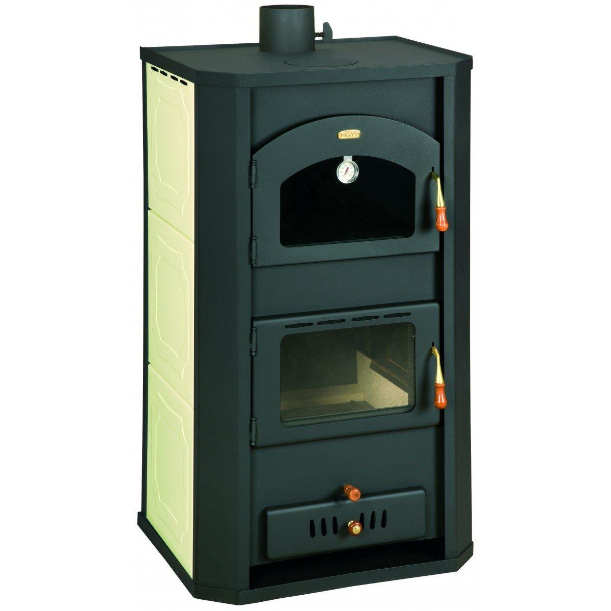 Caldera de leña estufas con horno Prity, Modelo FG W20, salida de calor 26 kW: Amazon.es: Bricolaje y herramientas