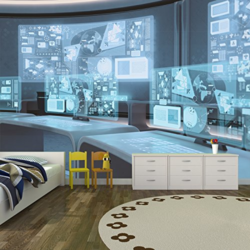 Futuristic Command Centre, Business, Office Wall Mural Photo Wallpaper available in 8 Sizes Gigantic Digital - Futuristic Decor