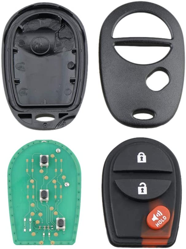 3 Buttons 315Mhz Car Keyless Entry Fob Remote Key For 2004-2016 Toyota Tacoma Sienna Sequoia Tacoma GQ43VT20T
