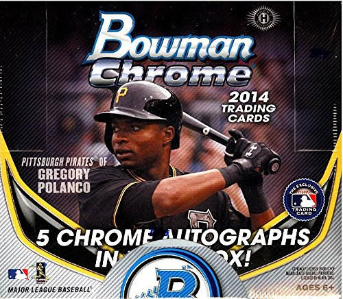 2014 Bowman Chrome Baseball Cards Jumbo Hobby Box (12 Packs/Box -5 Rookie Autographs - 9/26 Release) - Baseball Cards 2014 Box