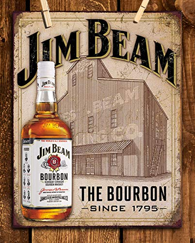 (Jim Bean Bourbon Vintage Sign- Wall Art- 8 x 10