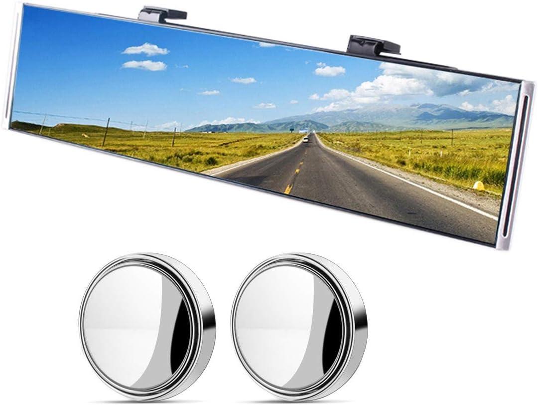 Anti-Glare Universal Interior Clip On RearView Mirror for Car 30 cm x 8 cm, 11.8 L x 3.15 H SUV Truck Wide Angle Car Rear View Mirror