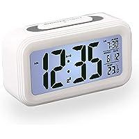 Reloj Despertador LCD Digital, Multi-Funciones Alarma Inteligente Muestra