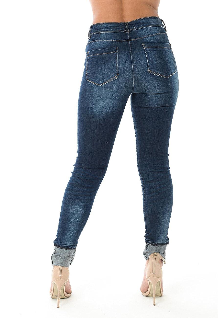 550fbb115c9 Ex Matalan Ladies Skinny Jeans Cotton Womens Denim Turn Up Slim Fit Stretch  at Amazon Women's Jeans store