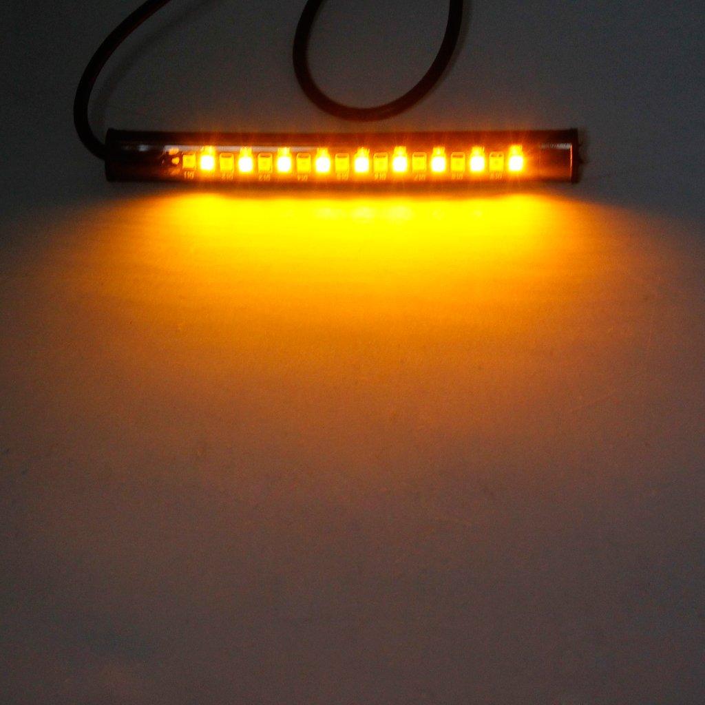 luce di stop luce flessibile per Honda Cafe Racer Striscia flessibile universale a 18 LED per moto ATV JENOR indicatori di direzione