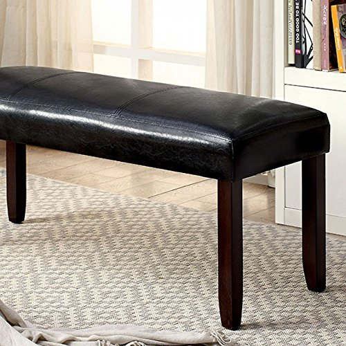William's Home Furnishing CM3984DK-BN Brent Seating Bench, Cherry