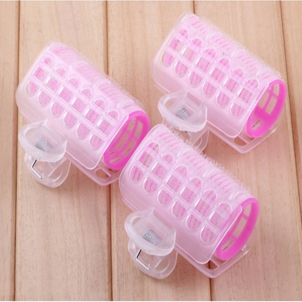 CY Fashion Cute Plastic Hair Rollers Curlers Bangs, Women Bangs Hair Styling Tools, Cling Rollers Curlers Hair Rollers Double Hair Volume Hair Curling Styling Tools 6Pcs,roll bangs double self-adhes