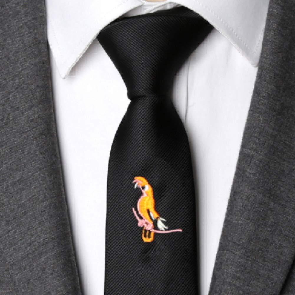 WOXHY Corbata de los Hombres Corbata Bordada de Animales de Moda ...