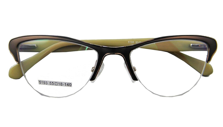 Circleperson Women Cat Eye Eyeglass Frames Optical Spring Hinges Middle size