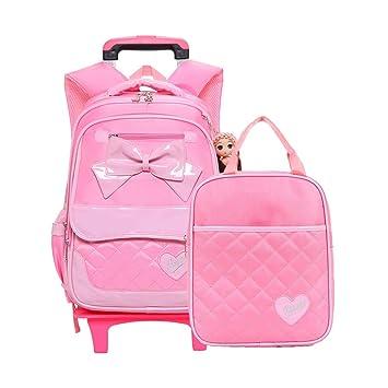 DS-mochila escolar Bolsa Trolley para niños - Mochila Trolley para niñas y Bolsos Desmontables