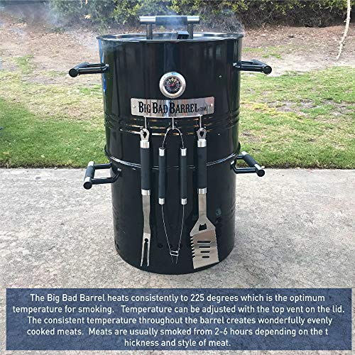 EasyGoProducts Big Bad Barrel Pit Charcoal Barbeque 5 in 1