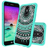 LG K20 Plus Case,LG K20V K20 V Case,LG VS501 / Harmony/ K10 2017/ Grace LTE Case Clear,AnoKe Mandala Thin Slim Protective Cell Phone Cases Cover with Screen Protector for Girls Women Kids Men CH Mint