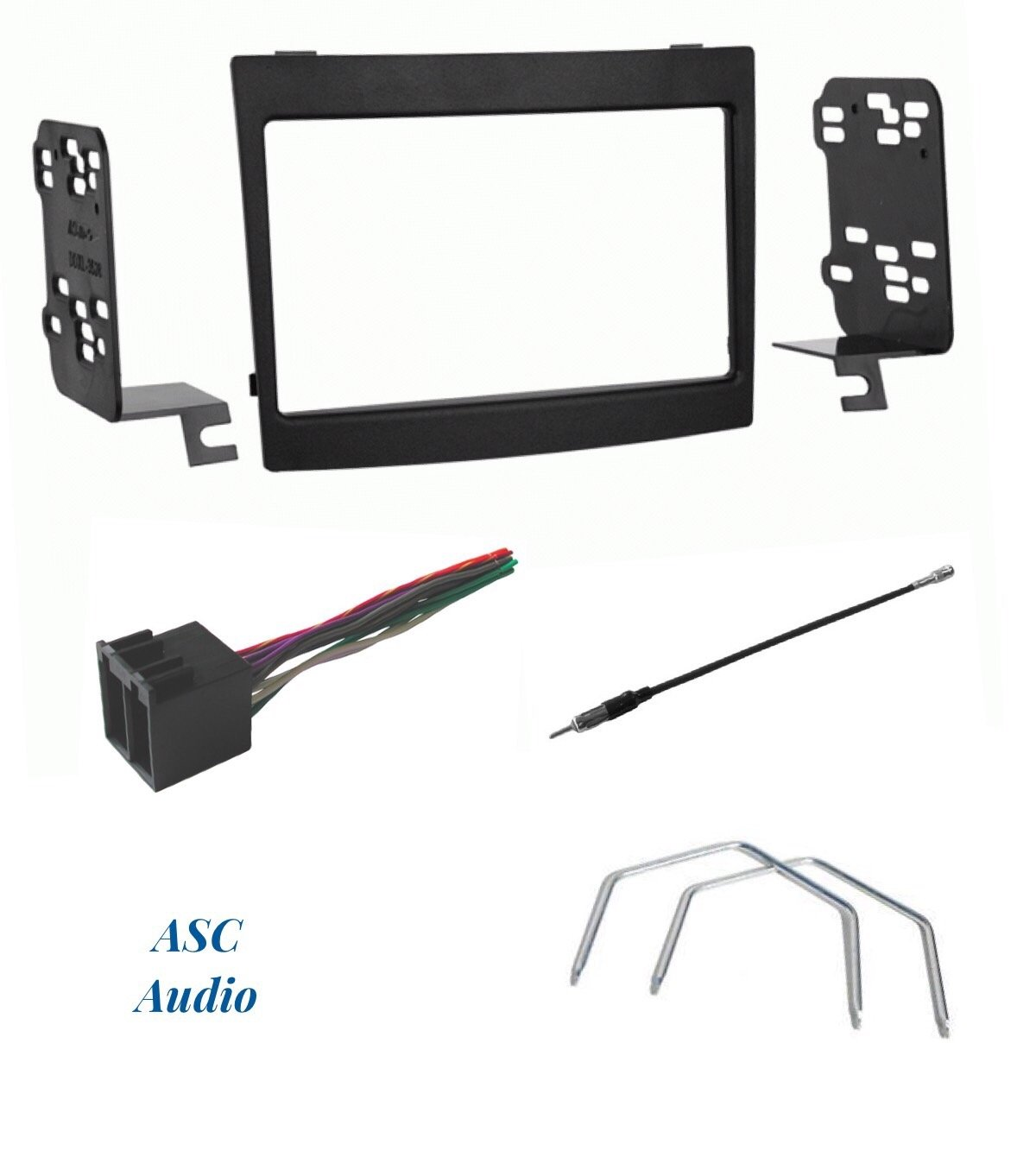 ASC Audio Car Stereo Dash Install Kit Antenna Adapter and Radio Removal Tool for Installing a Double Din Radio for some Pontiac GTO Compatible Vehicles Listed Below Other Wire Harness