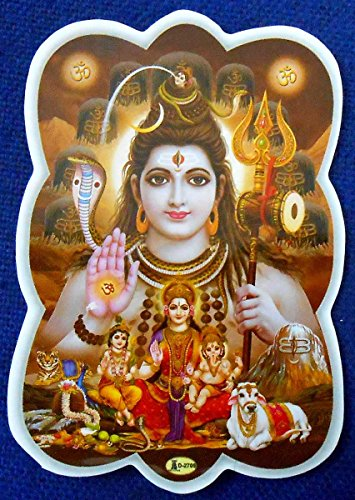 """Blessing Lord Shiva : Hindu God Sticker Size 3.5""""x 2.5"""" Inches"""
