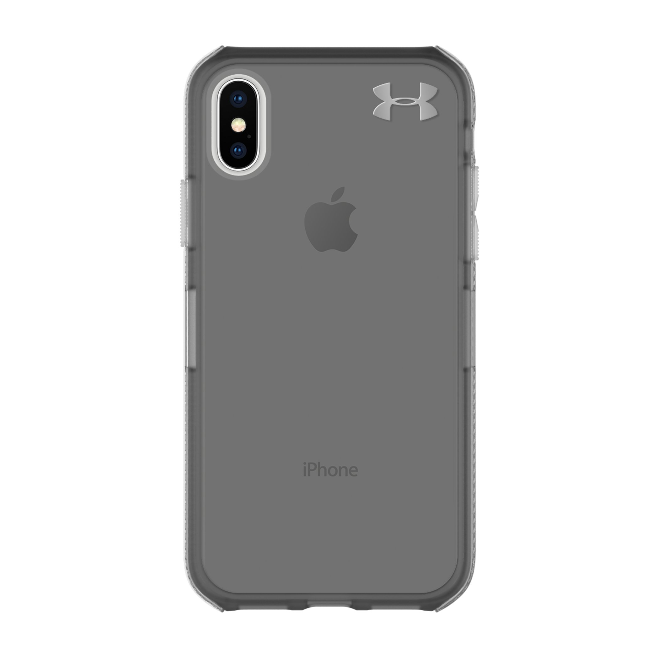 Under Armour UA Protect Verge Case for iPhone X - Translucent Smoke/Black/Metallic