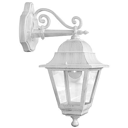 Lanterne Bianche Da Esterno.Lanterna Lanterne Bianca Bianche Da Giardino Con Braccio Alto Basso