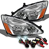 Honda Accord OE Replacement Headlights Driver/Passenger Head Lamps +6000K Slim HID Xenon Kit
