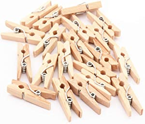 zorpia Wooden Clothespins 100 Pcs,Wooden Clips 2.8 x 0.5 inches,Clothespins Bulk Laundry Pins for Hanging Clothing,Home Storage,DIY Project (Natural)