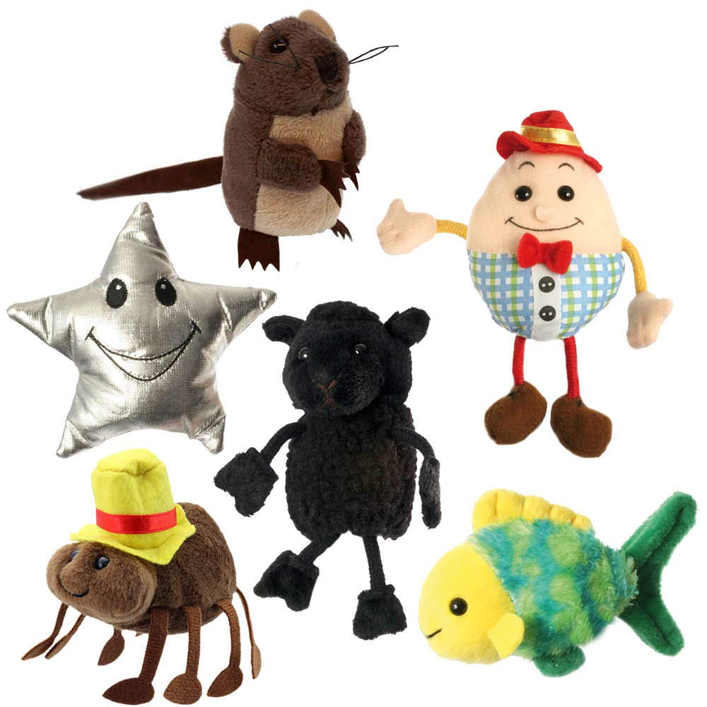 Finger Puppets: Nursery Rhymes Set of 6 The Puppet Company