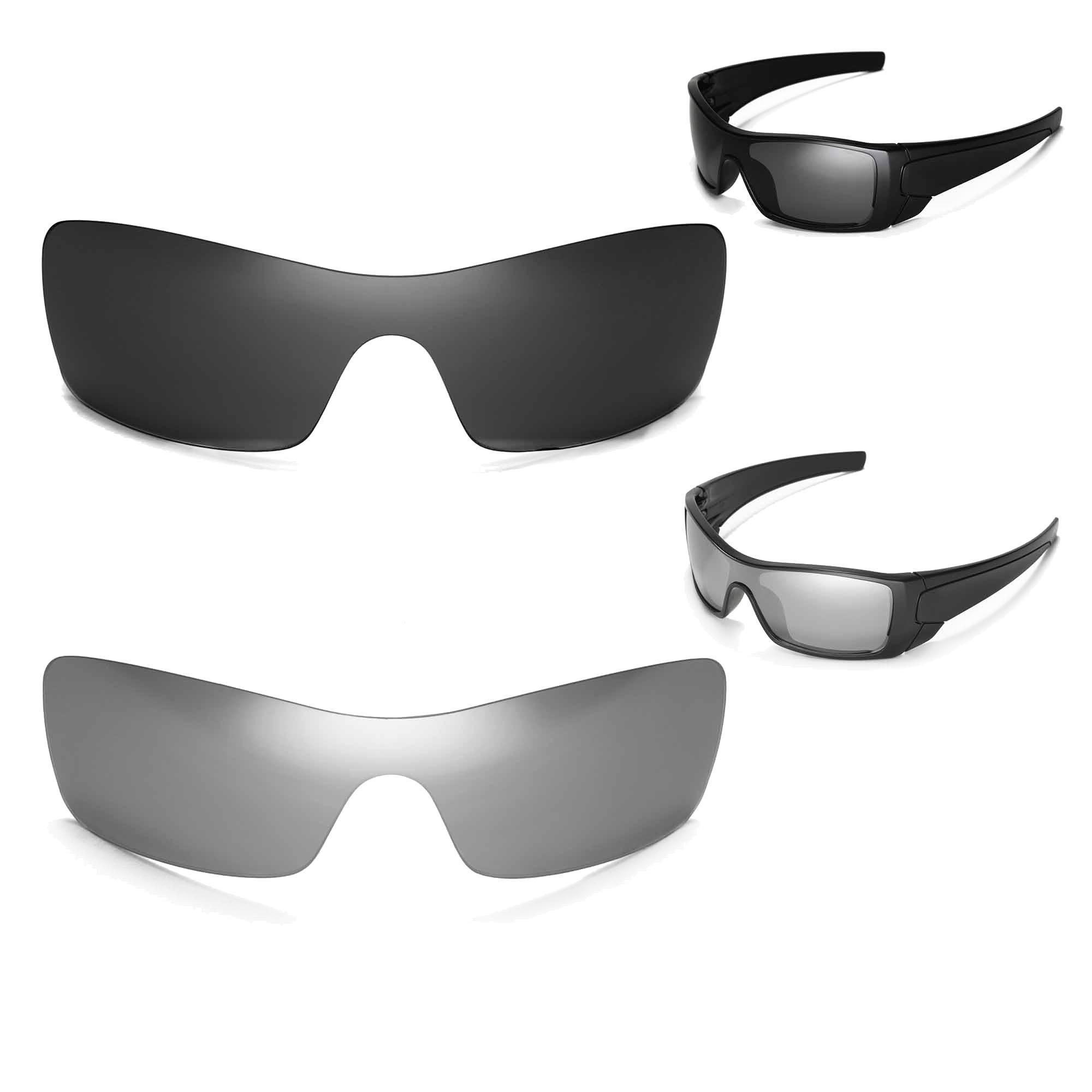 New Walleva Polarized Black + Titanium Lenses For Oakley Batwolf
